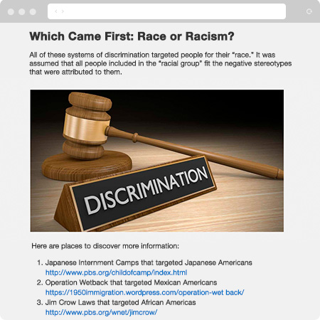 Understanding Racism Online Course Applied Learning Examples